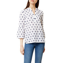 Buy Hobbs Maudie Top, Marine Blue/White Online at johnlewis.com