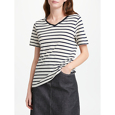 Finery Bethnal Linen Stripe T-Shirt