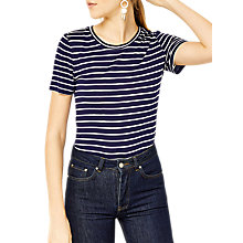 Buy Warehouse Smart Fit T-Shirt, Navy Online at johnlewis.com
