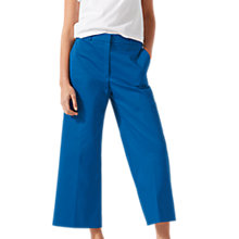 Buy Jigsaw Sateen Wide Leg Trousers, Sapphire Online at johnlewis.com