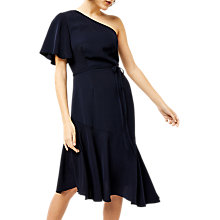 Buy Warehouse Asymmetric Dress, Navy Online at johnlewis.com