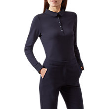 Buy Hobbs Sasha Placket Top, Navy Online at johnlewis.com