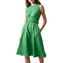Buy Hobbs Kathy Twitchill Dress, Tropical Green Online at johnlewis.com