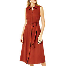 Buy Warehouse Trimmed Shirt Dress, Tan Online at johnlewis.com