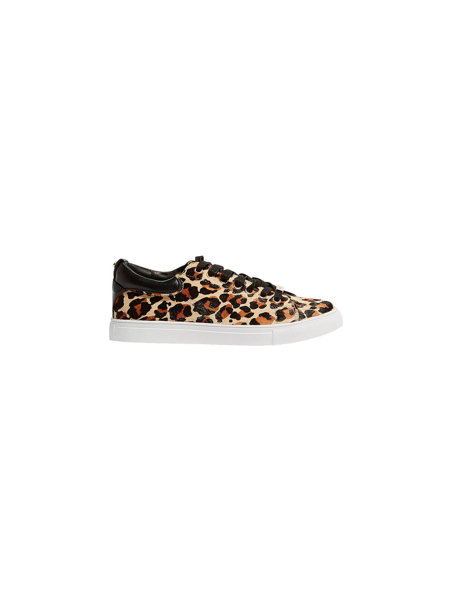 db99e04dad1b6 Buy Karen Millen Leather Leopard Print Trainers, Leopard, 3 Online at  johnlewis.com ...
