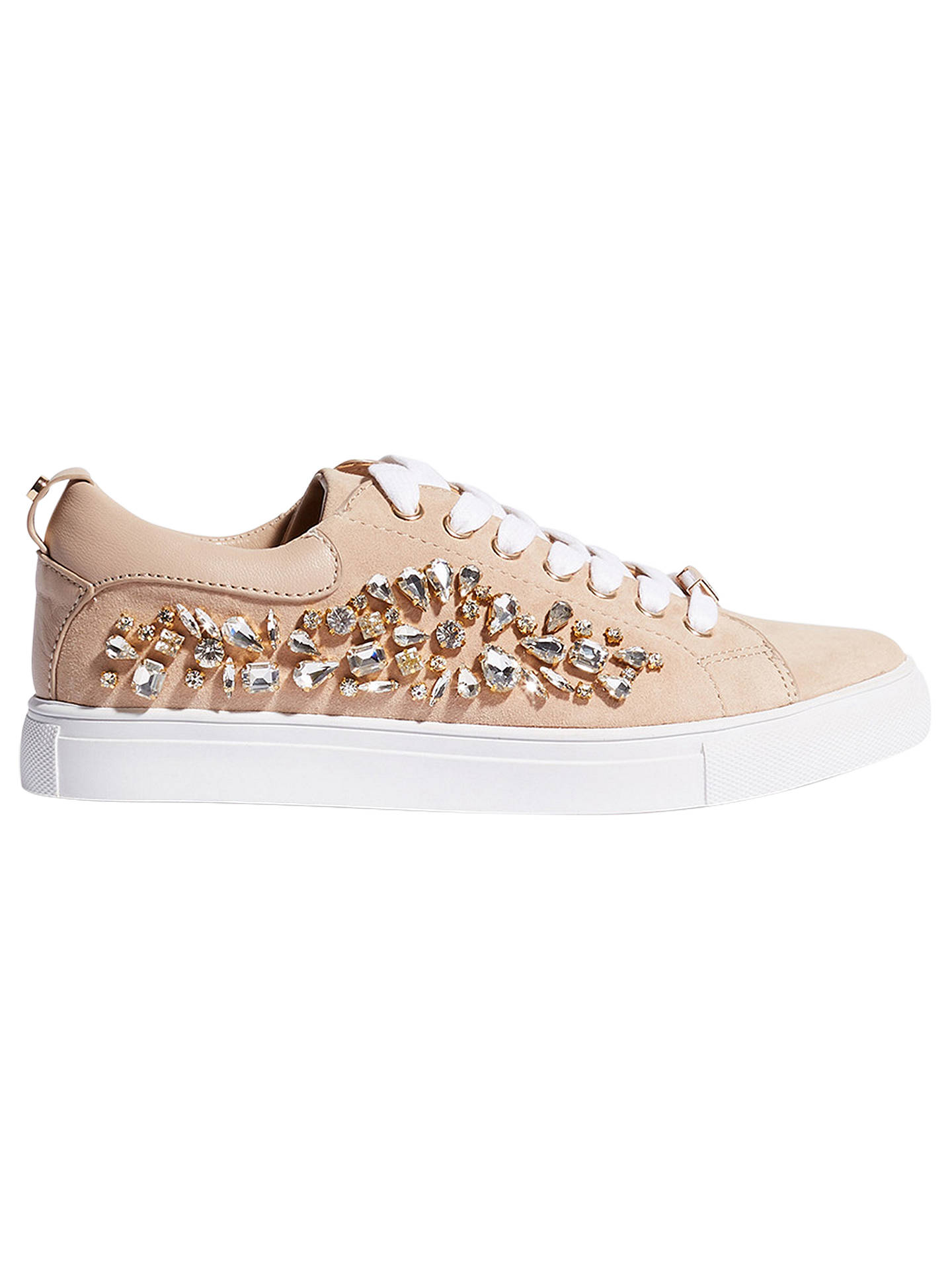 b2c8a6862e429a Buy Karen Millen Jewel Embellished Lace Up Trainers