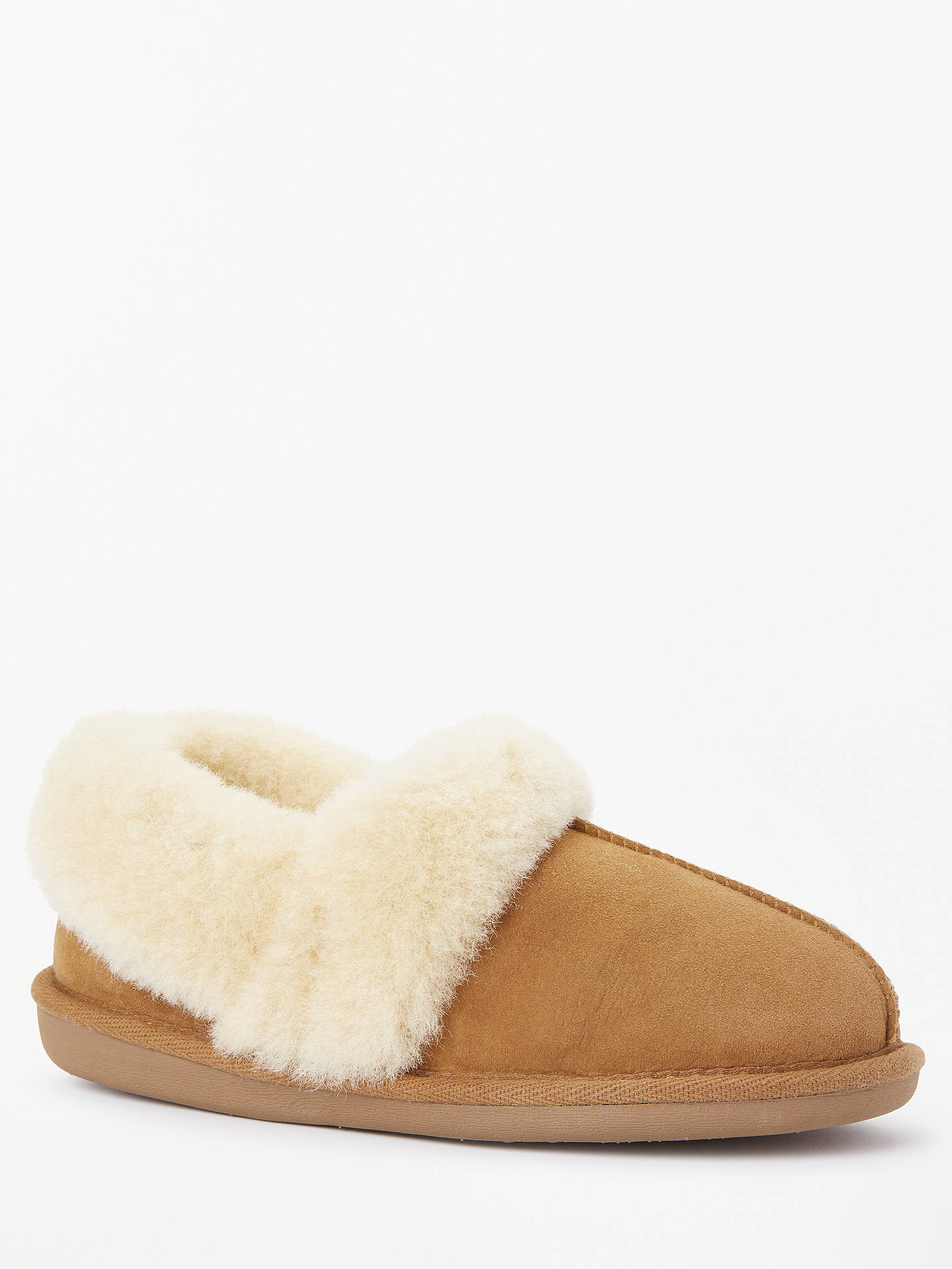 BuyJohn Lewis & Partners Comfort Cuff Sheepskin Slippers, Chestnut, 3 Online at johnlewis.com