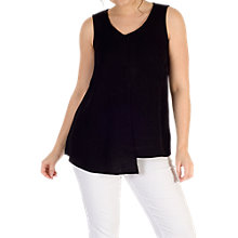 Buy Chesca Ribbed Jacquard Top, Black Online at johnlewis.com