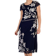 Buy Chesca Embroidered Lily Layer Dress, Navy Online at johnlewis.com