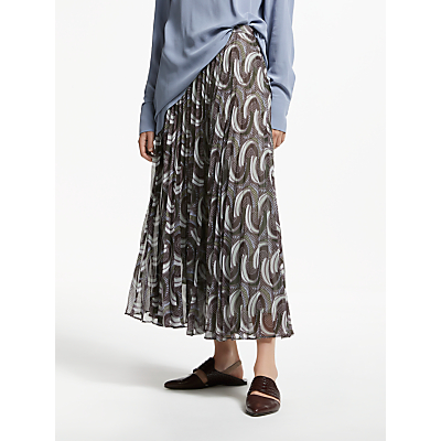 Modern Rarity Archive Print Sunray Pleated Skirt, Multi