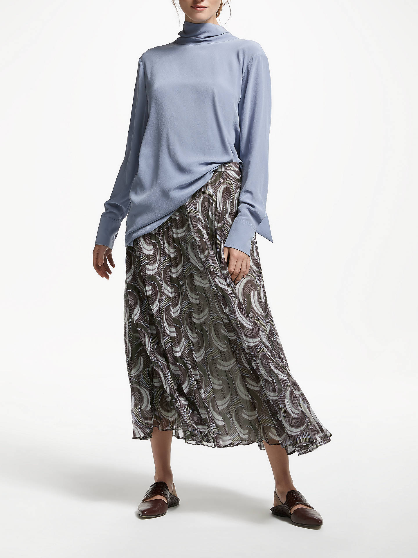 2824a66a0 Buy Modern Rarity Archive Print Sunray Pleated Skirt, Multi, 8 Online at  johnlewis.