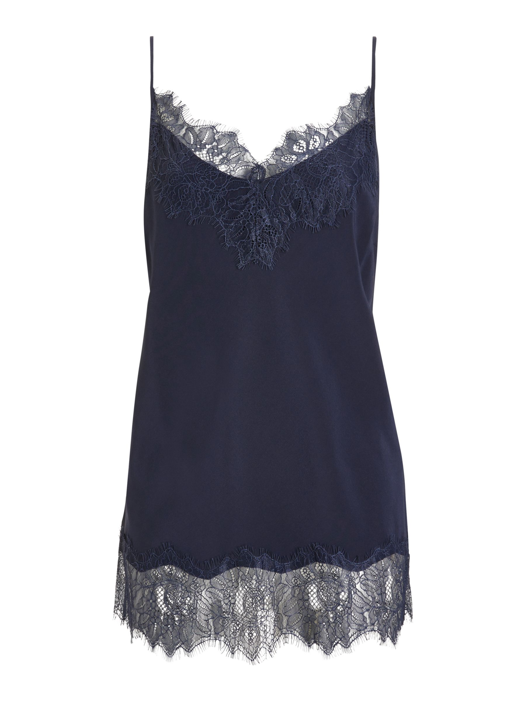 Modern Rarity Silk Lace Cami Top