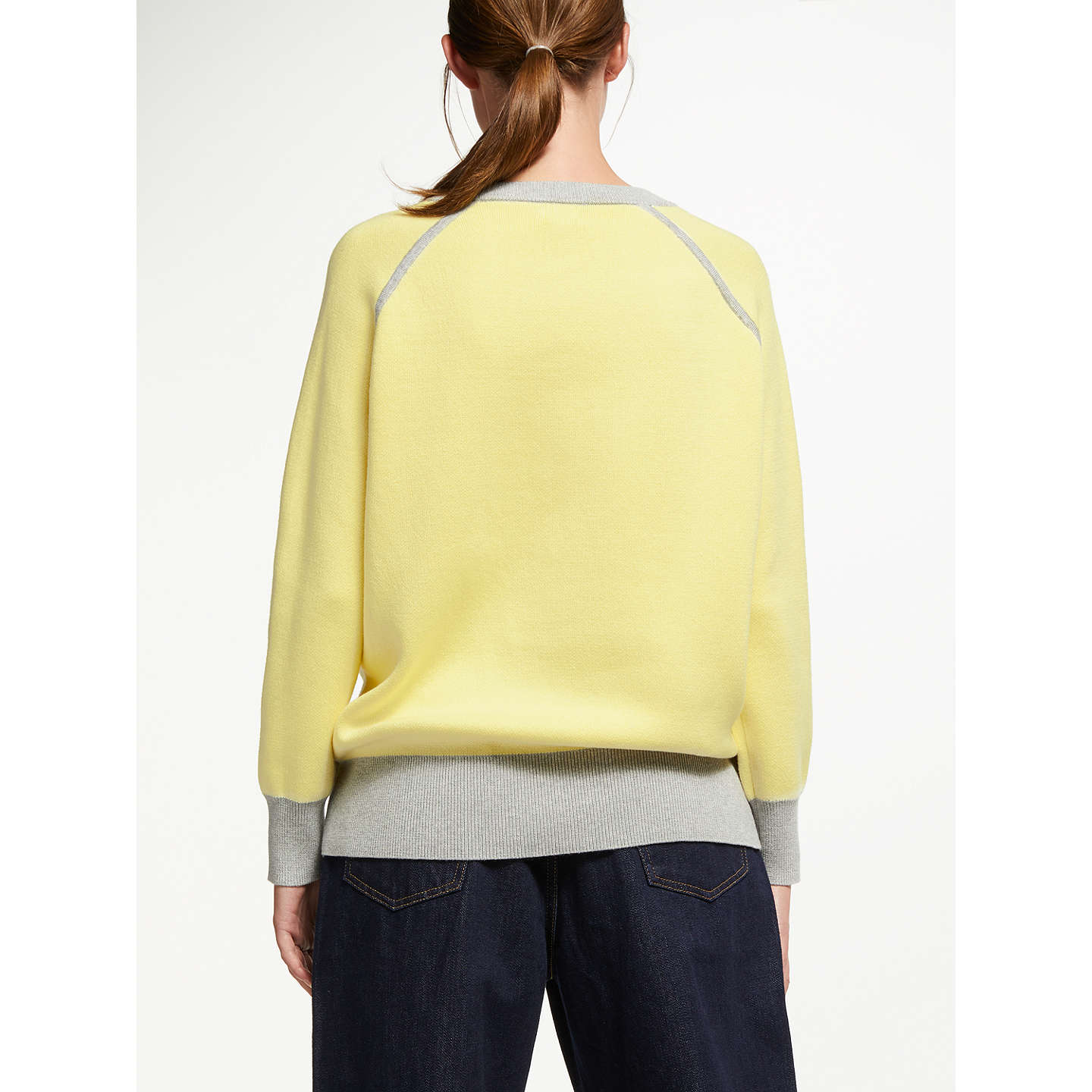 BuyKin by John Lewis Raglan Sleeve Knit, Yellow, S Online at johnlewis.com