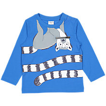 Buy Polarn O. Pyret Baby Lemur Top, Blue Online at johnlewis.com