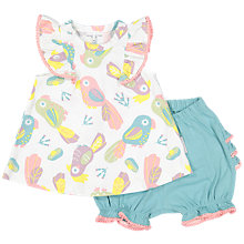 Buy Polarn O. Pyret Baby Parrot Top and Shorts Set, Multi Online at johnlewis.com