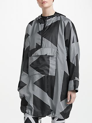 PATTERNITY + John Lewis Triangles Print Pac-A-Mac, Black/White