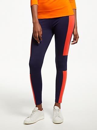 PATTERNITY + John Lewis Colour Block Panelled Leggings, Teal/Orange/Navy