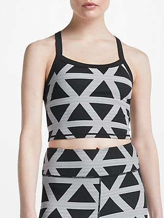 PATTERNITY + John Lewis Triangle Print Bra Top, Black/White