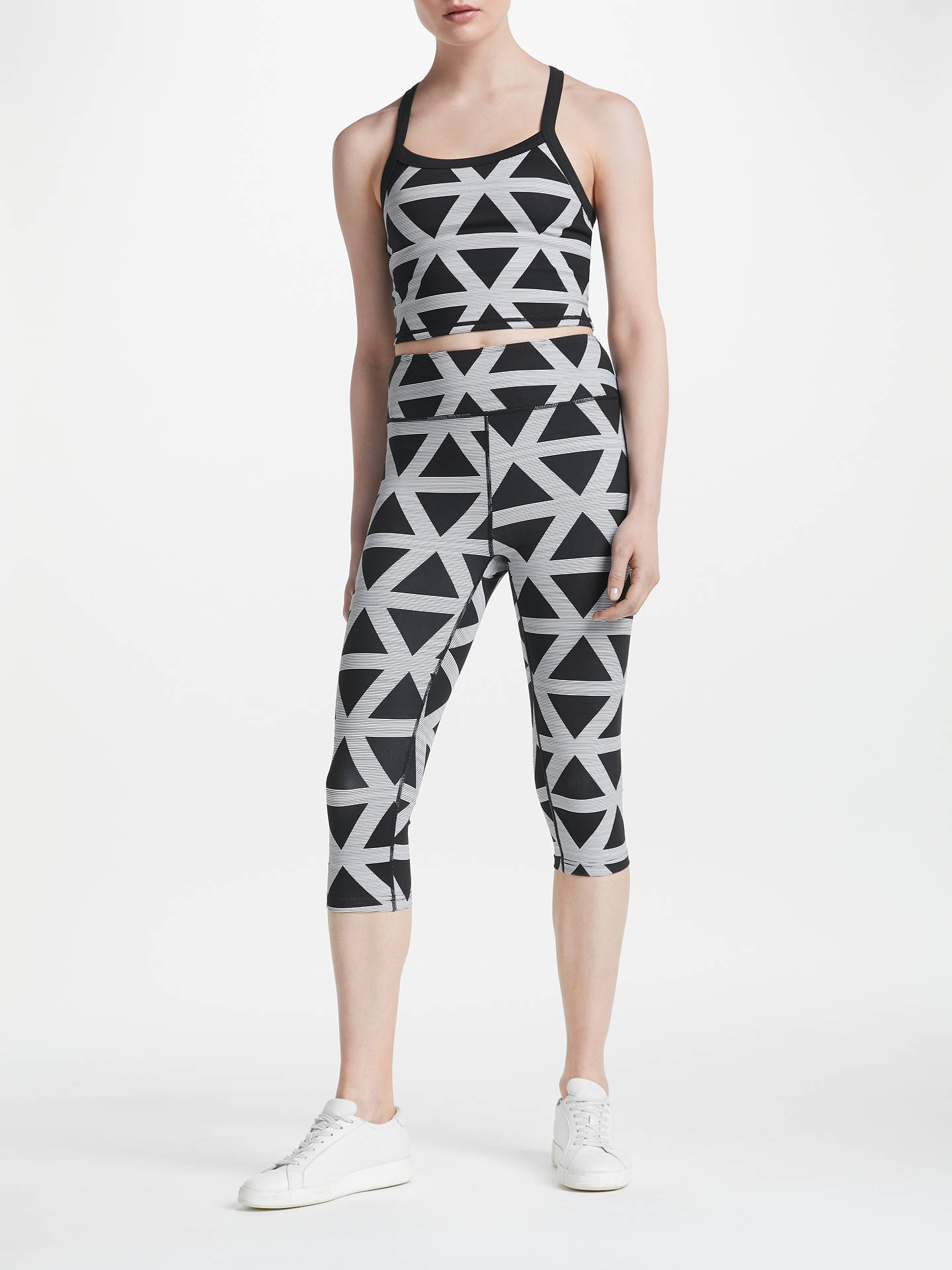 Buy PATTERNITY + John Lewis Triangle Print Bra Top, Black/White, M Online at johnlewis.com