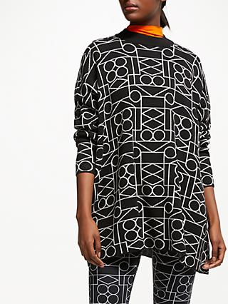PATTERNITY + John Lewis Oversized Intarsia Jumper, Black/White