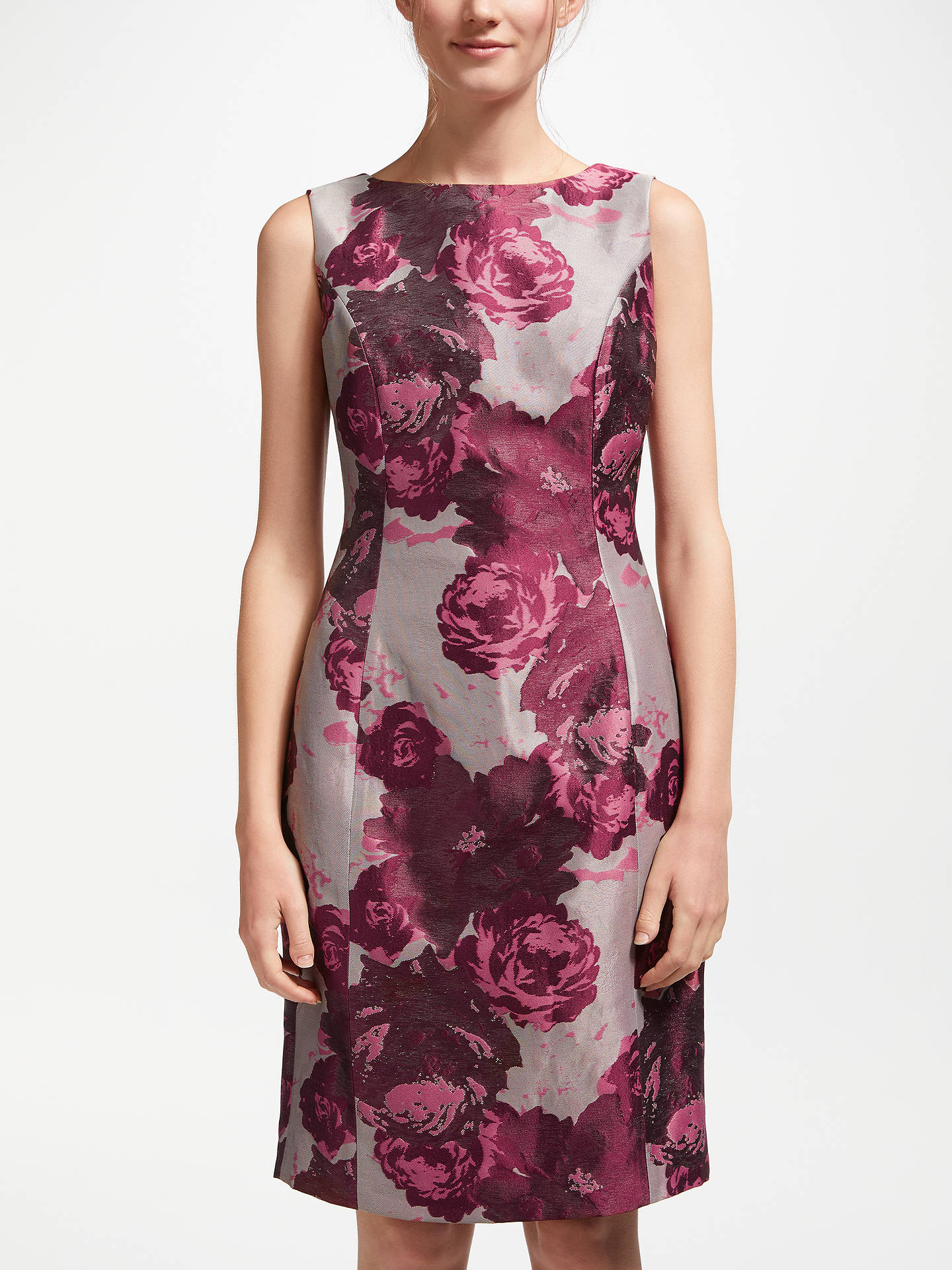 BuyBruce by Bruce Oldfield Jacquard Shift Dress, Pink/Wine Tasting, 8 Online at johnlewis.com