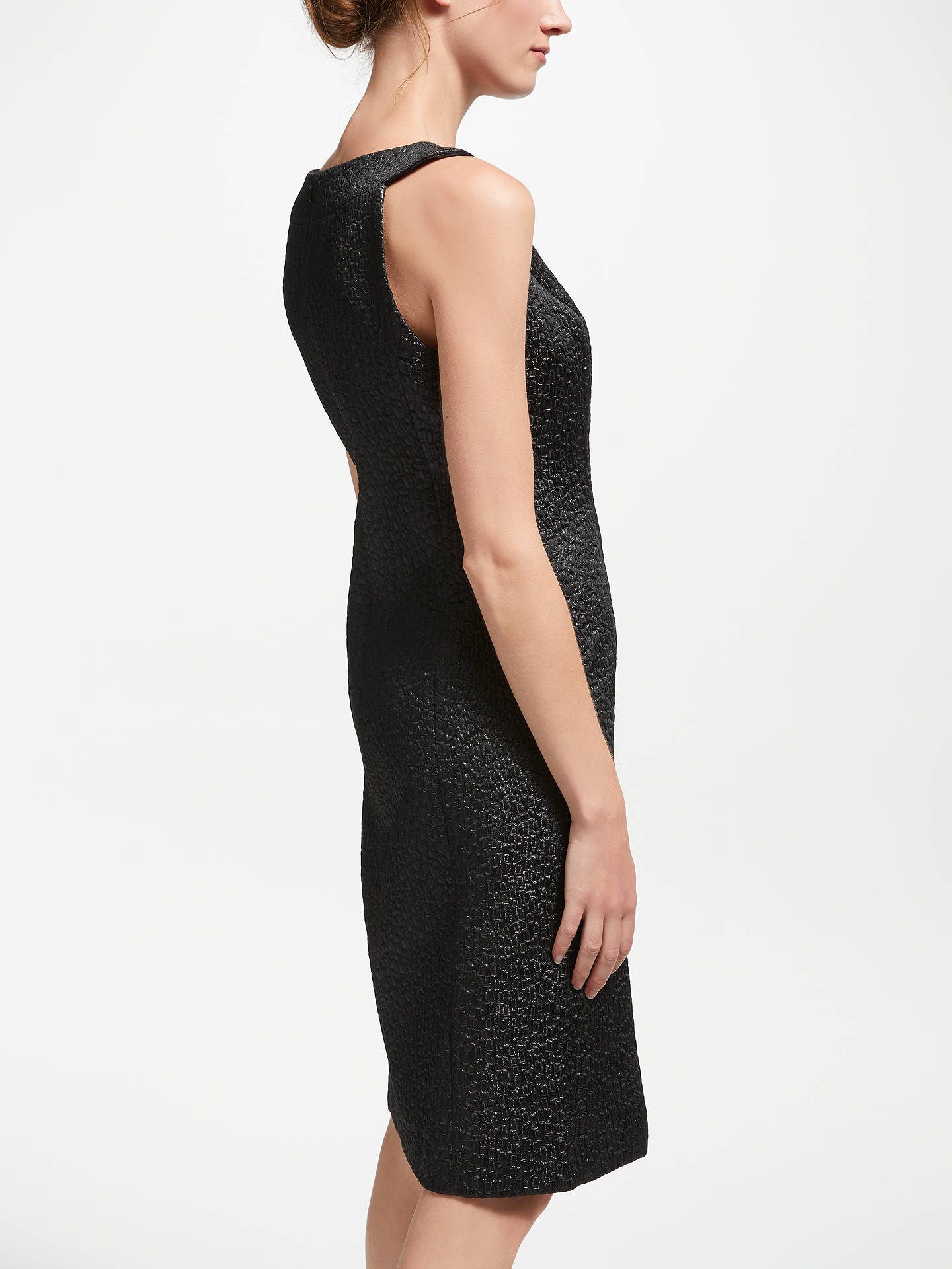 Buy Bruce by Bruce Oldfield Jacquard Fit And Flare Dress, Black, 8 Online at johnlewis.com