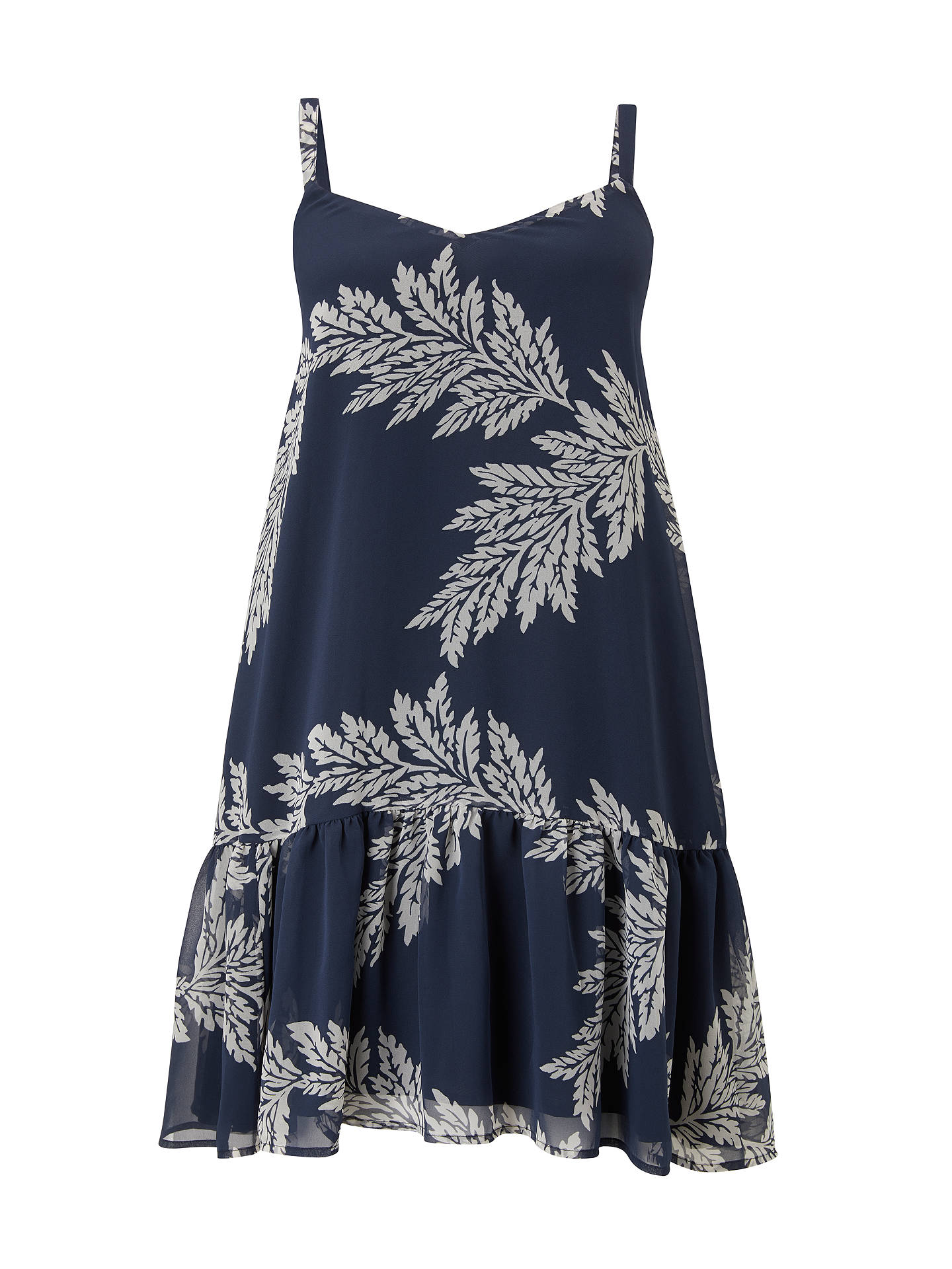 BuySomerset by Alice Temperley Palm Print Mini Dress, Cornflower Blue, 10 Online at johnlewis.com