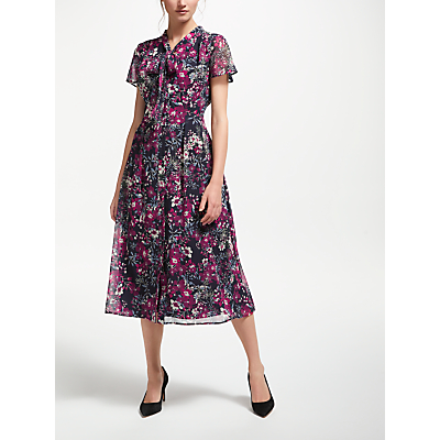 Bruce by Bruce Oldfield Floral Shirt Dress, Navy Print