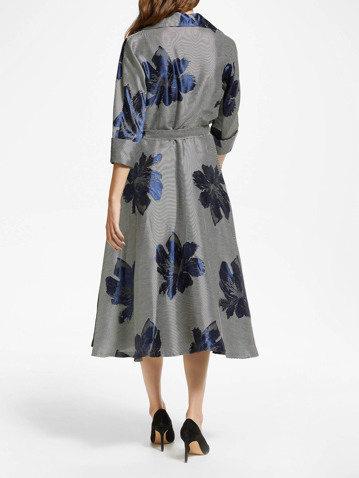 BuyBruce by Bruce Oldfield Jacquard Stripe Floral Shirt Dress, Multi, 14 Online at johnlewis.com