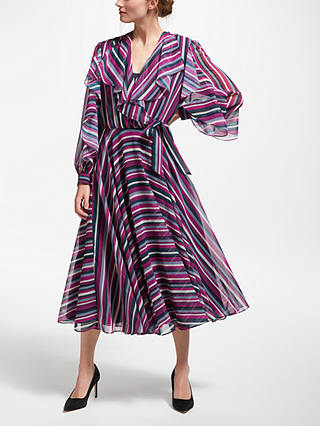 Buy Bruce by Bruce Oldfield Multi Stripe Dress, Navy Print, 8 Online at johnlewis.com