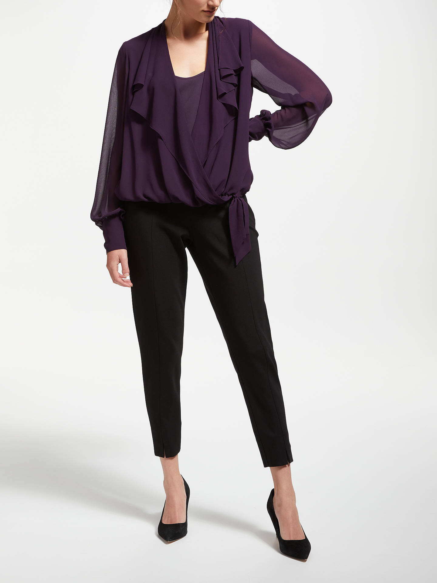 BuyBruce by Bruce Oldfield Wrap Over Tie Waist Blouse, Wine Tasting, 12 Online at johnlewis.com