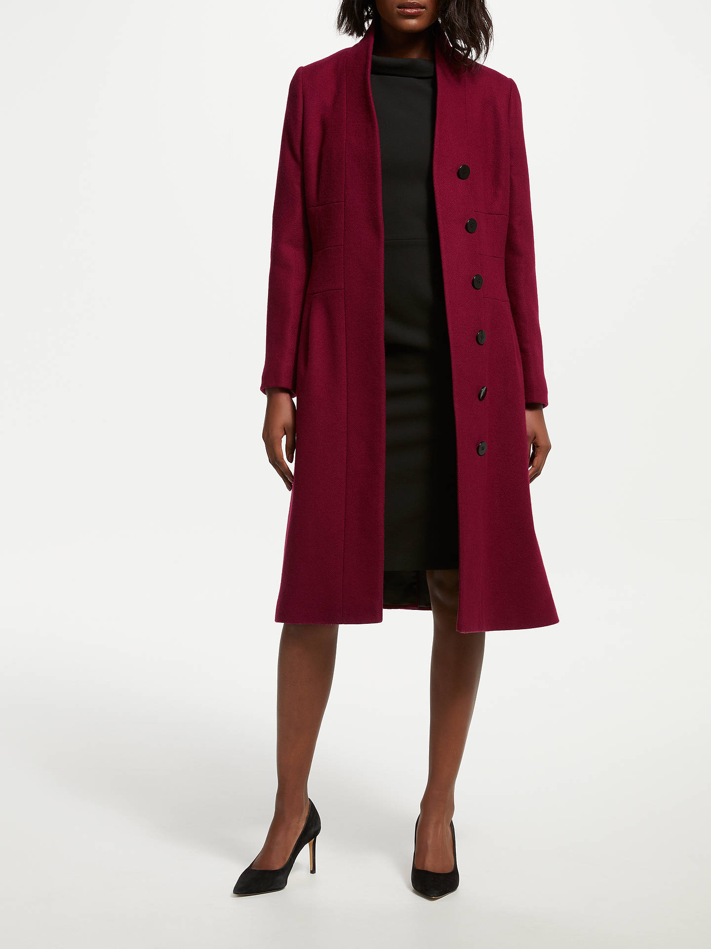 BuyBruce by Bruce Oldfield Funnel Coat, Red, 8 Online at johnlewis.com