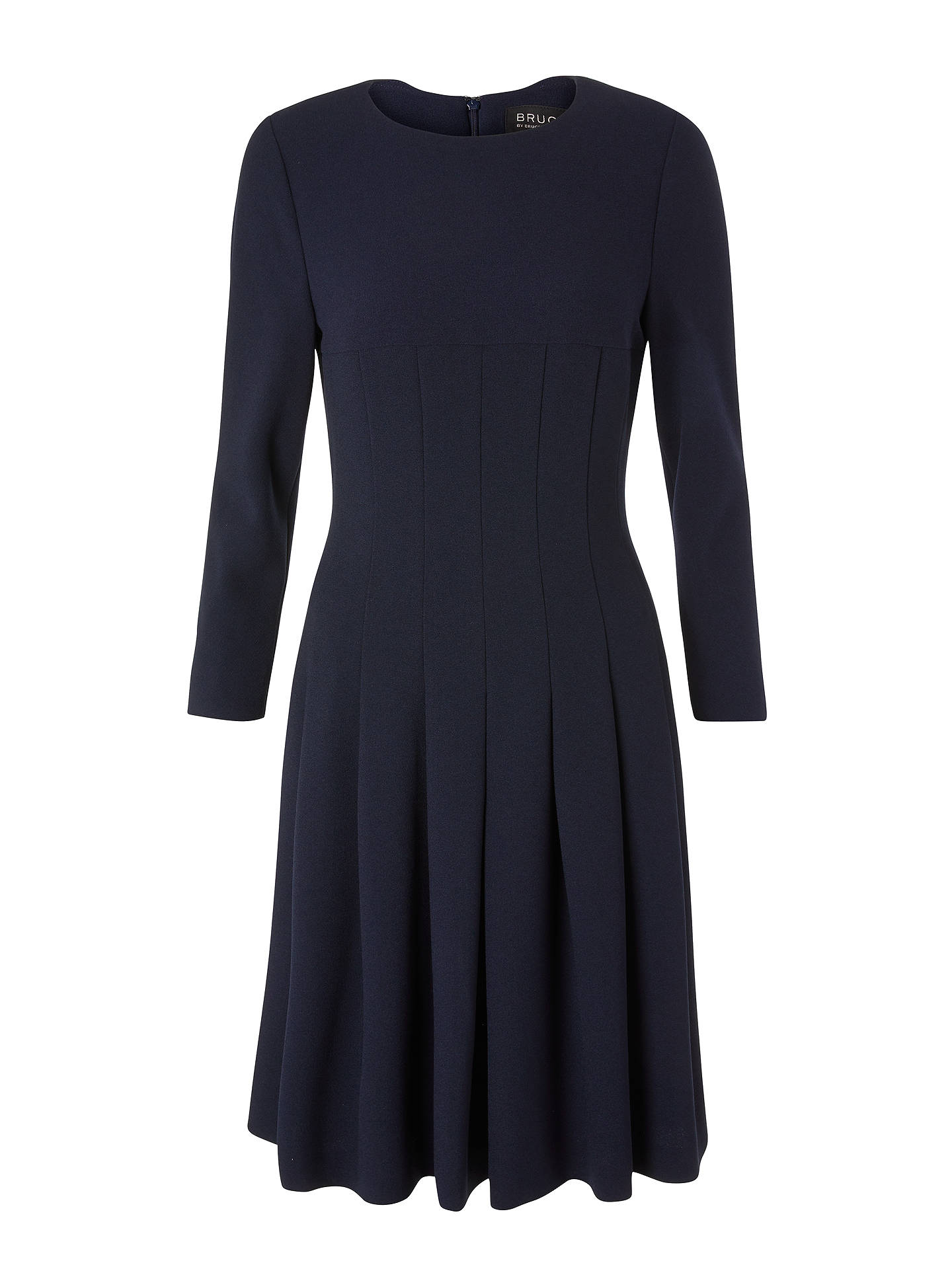 BuyBruce by Bruce Oldfield Pleated Dress, Navy, 8 Online at johnlewis.com