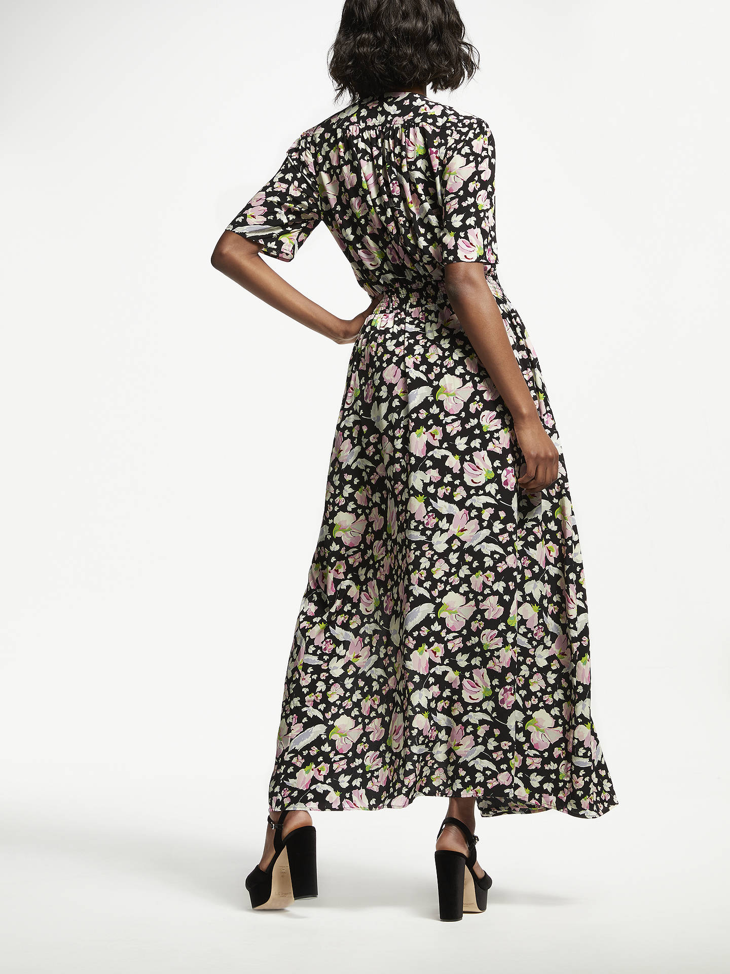 BuySomerset by Alice Temperley Carnation Print Maxi Dress, Black, 18 Online at johnlewis.com