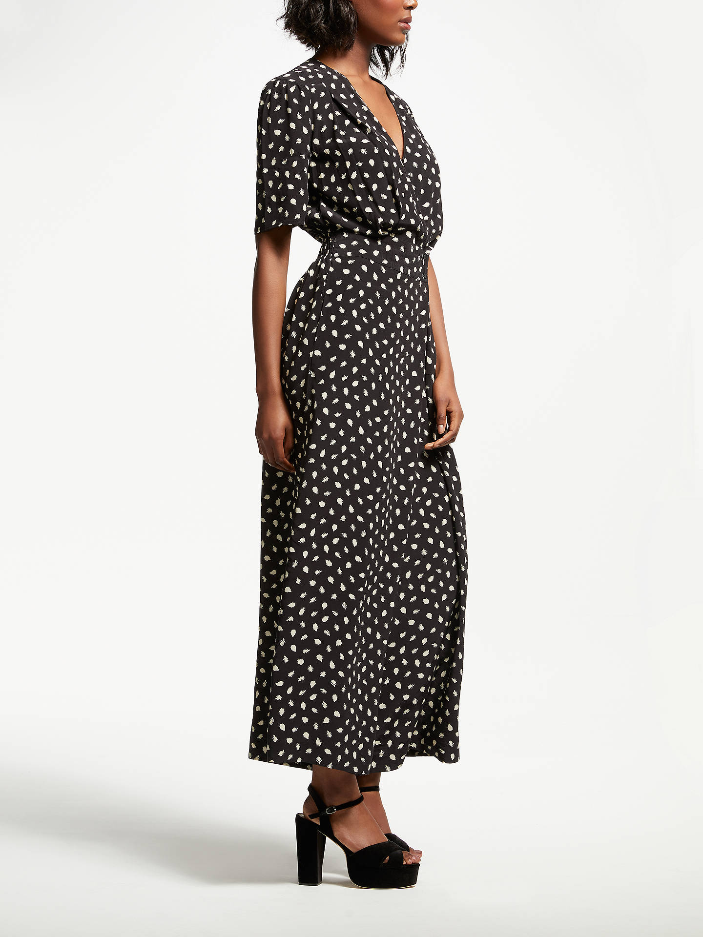BuySomerset by Alice Temperley Acorn Print Jumpsuit, Black, 8 Online at johnlewis.com