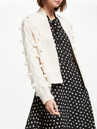 Buy Somerset by Alice Temperley Bobble Cardigan, Natural, 8 Online at johnlewis.com