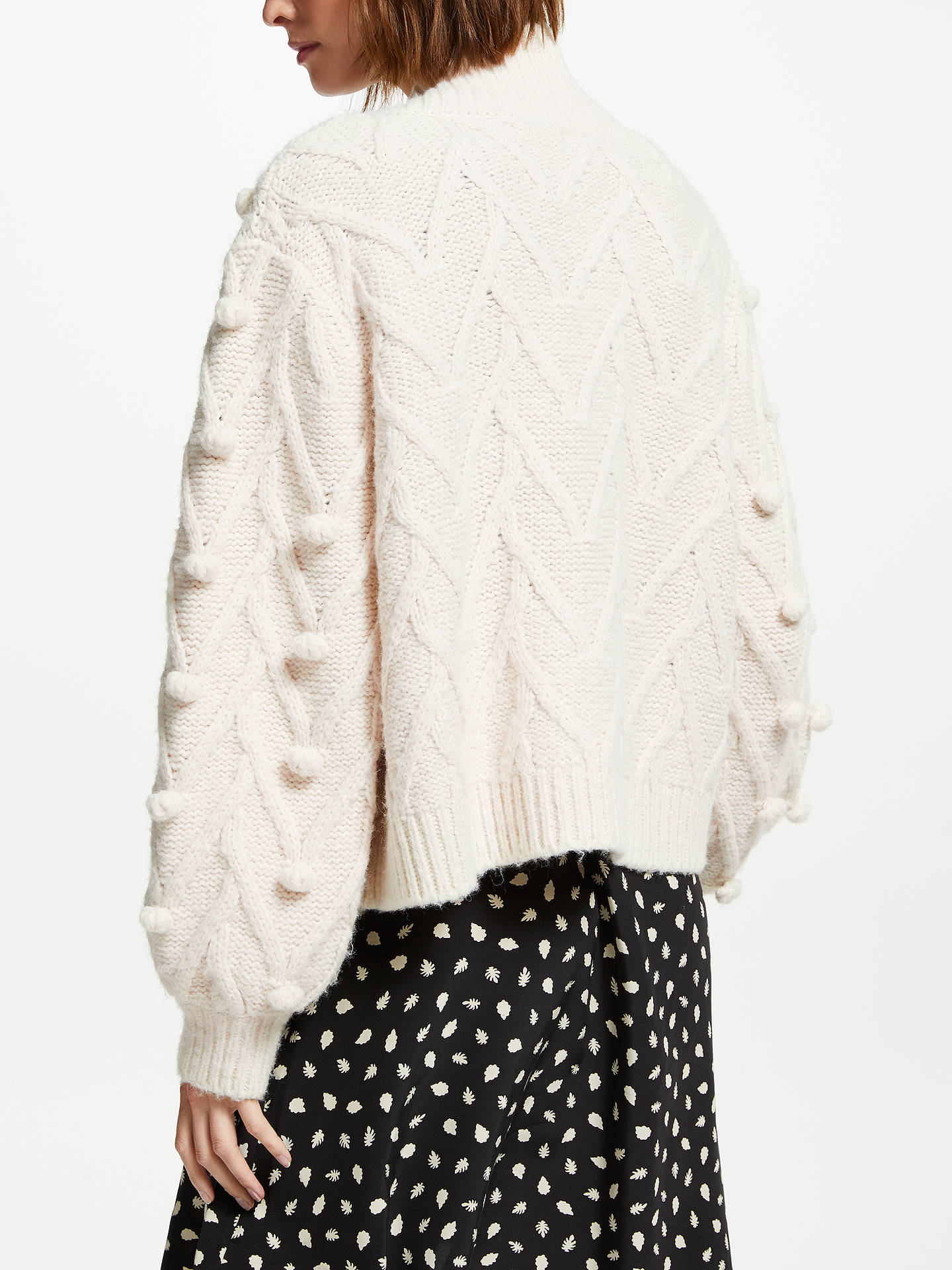 BuySomerset by Alice Temperley Bobble Cardigan, Natural, 8 Online at johnlewis.com