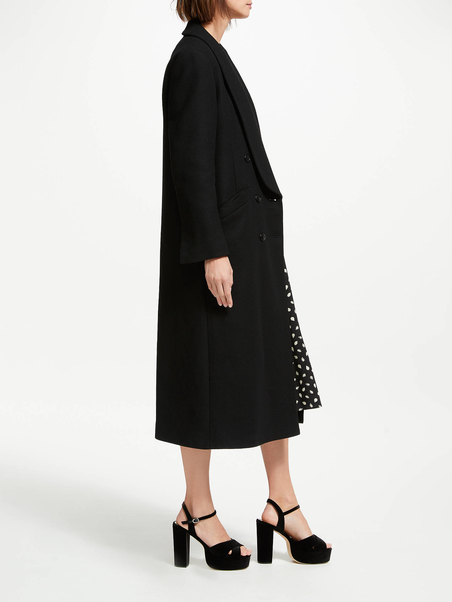 BuySomerset by Alice Temperley Revere Collar Coat, Black, 8 Online at johnlewis.com
