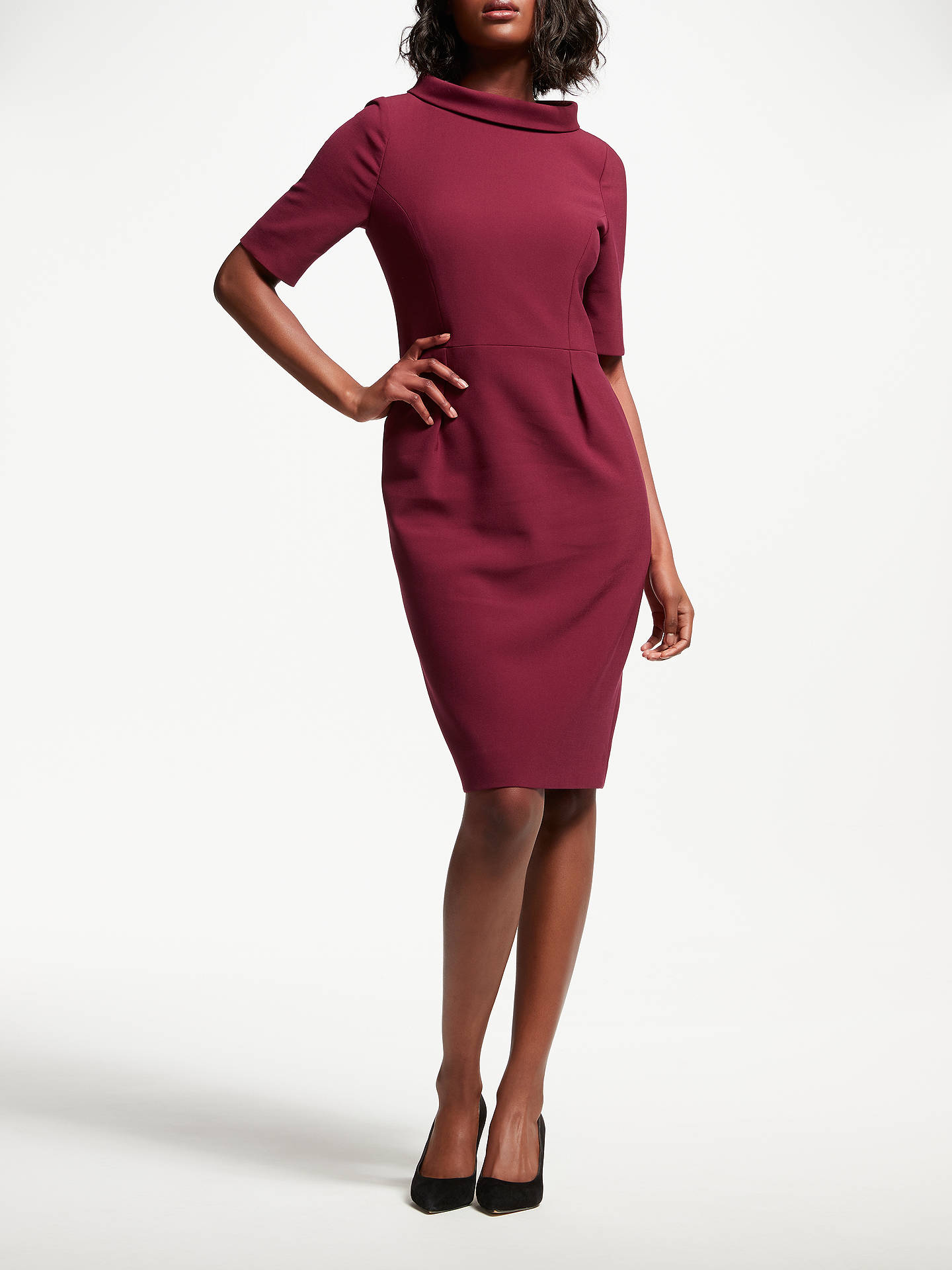 Buy Bruce by Bruce Oldfield Picture Collar Dress, Red, 8 Online at johnlewis.com