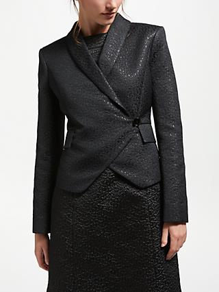 Bruce by Bruce Oldfield Jacquard Wrap Jacket, Black