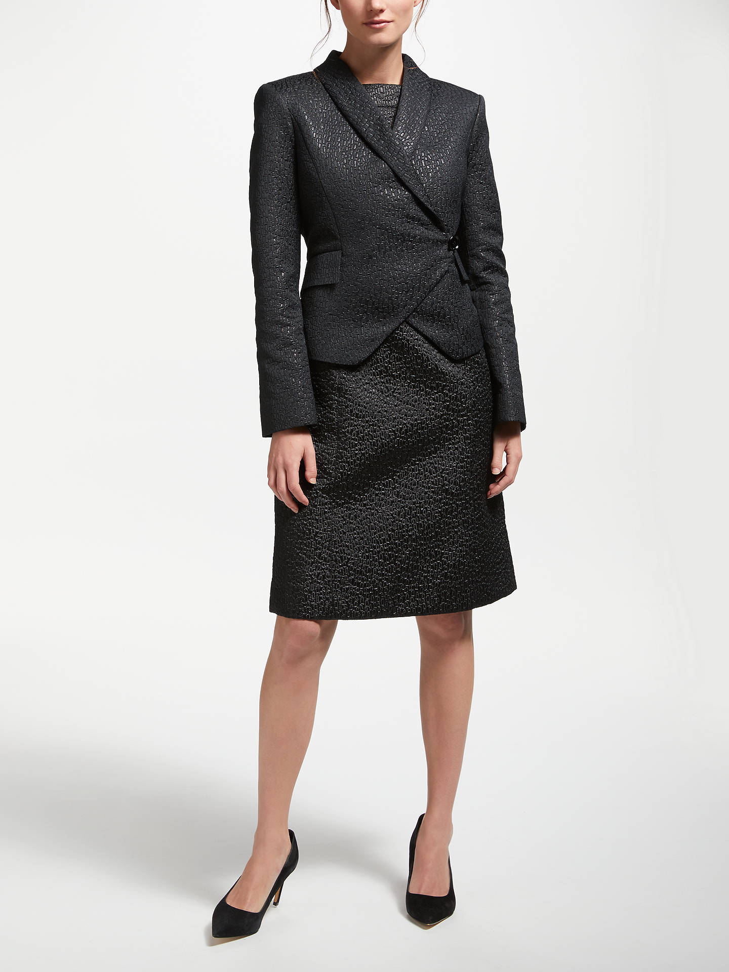 Buy Bruce by Bruce Oldfield Jacquard Wrap Jacket, Black, 8 Online at johnlewis.com
