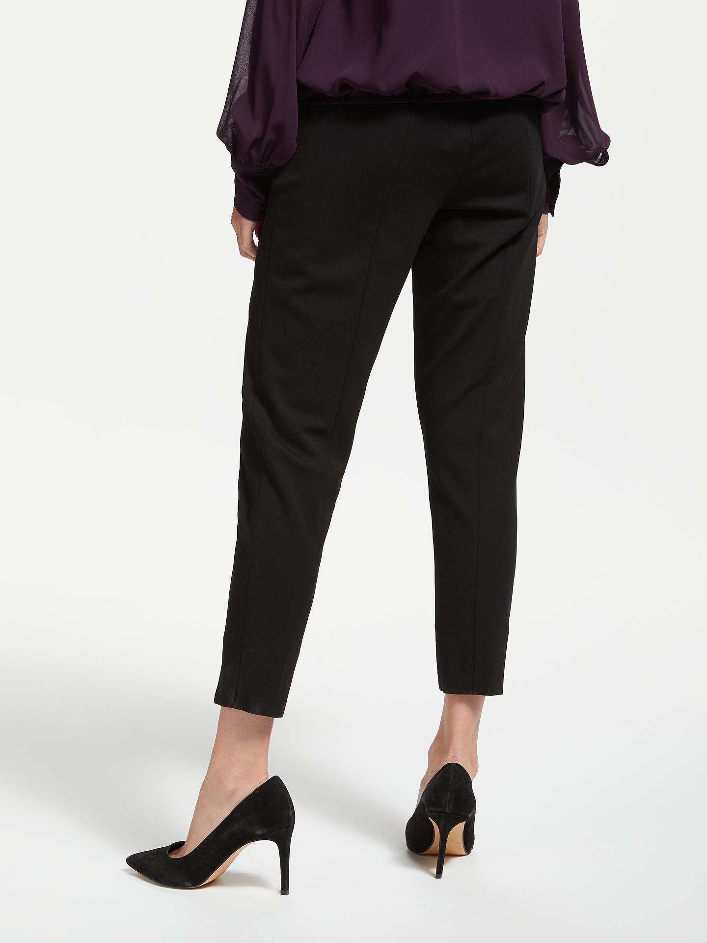 BuyBruce by Bruce Oldfield Slim Ponte Trousers, Black, 10 Online at johnlewis.com