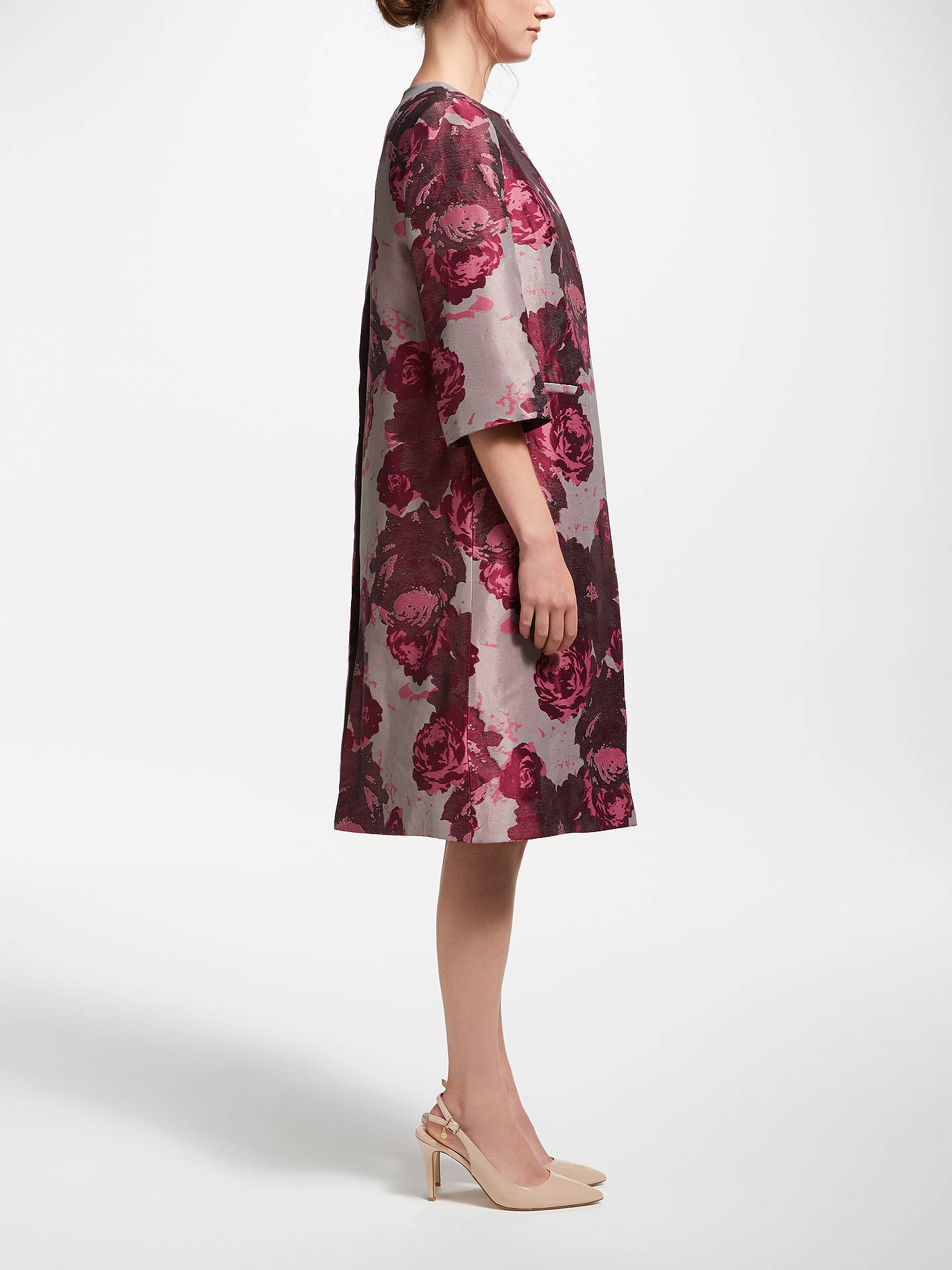 Buy Bruce by Bruce Oldfield Jacquard Frock Coat, Pink/Wine Tasting, 8 Online at johnlewis.com