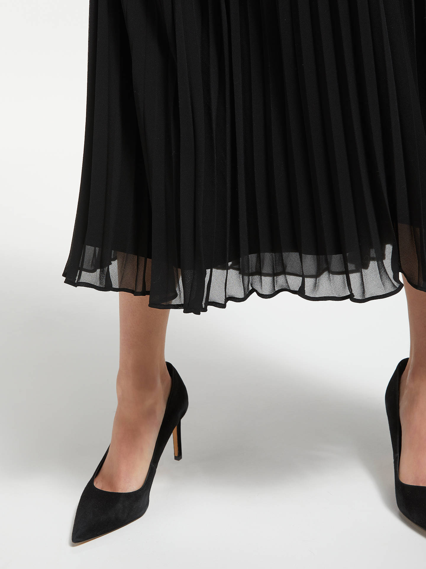 Buy Bruce by Bruce Oldfield Pleated Skirt, Black, 8 Online at johnlewis.com