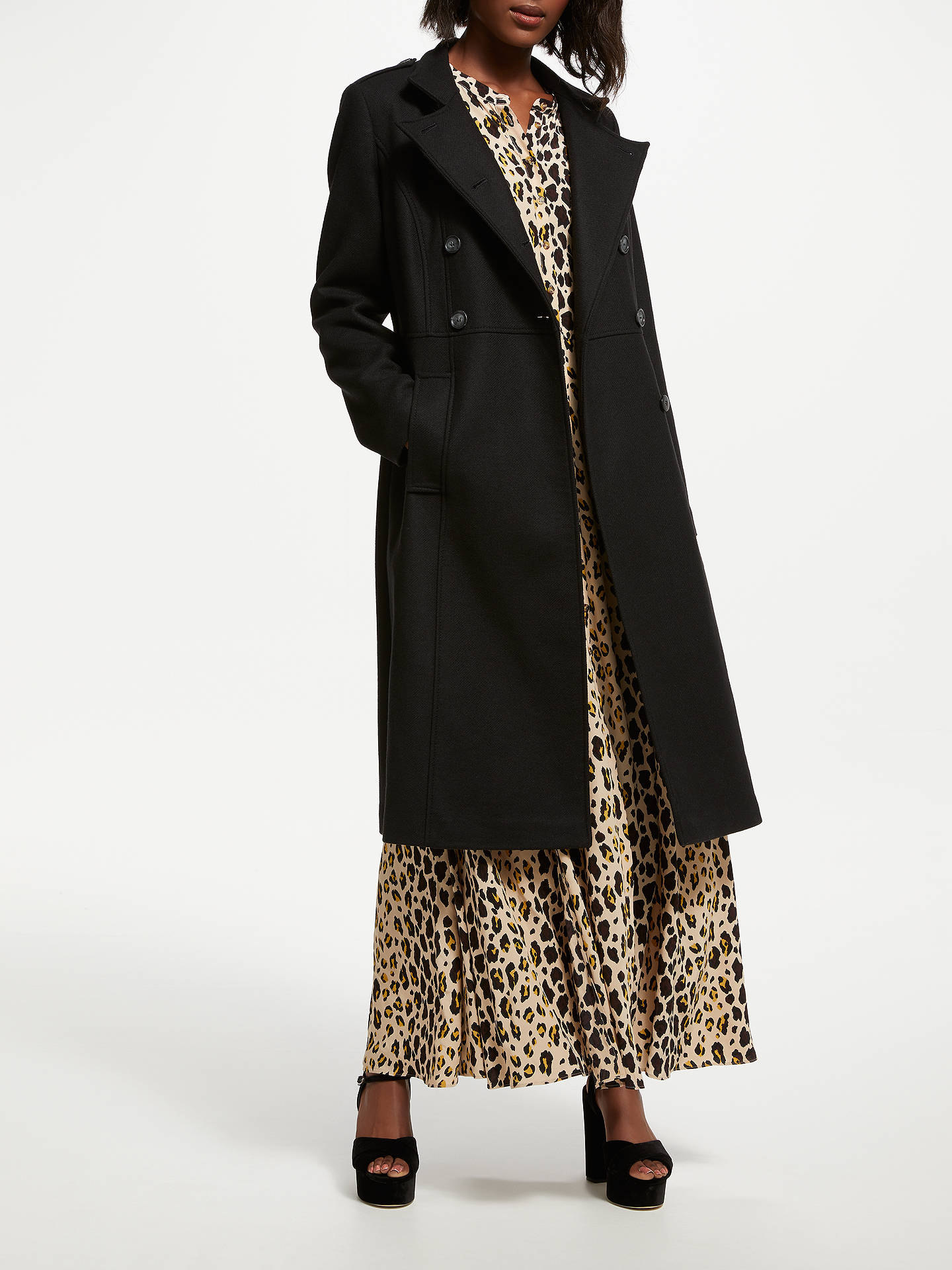 BuySomerset by Alice Temperley Military Coat, Black, 8 Online at johnlewis.com
