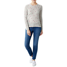 Buy Pure Collection Watermelon Print Cashmere Jumper, Grey Online at johnlewis.com