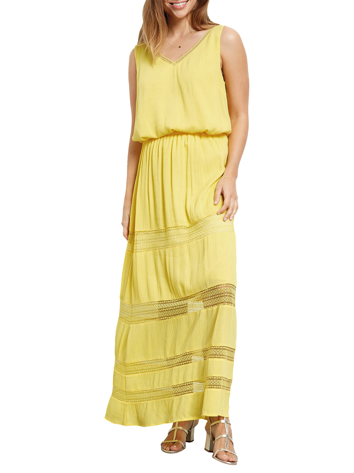9adfe82d2d Buy hush Lace Insert Maxi Skirt, Goldfinch, 6 Online at johnlewis.com ...