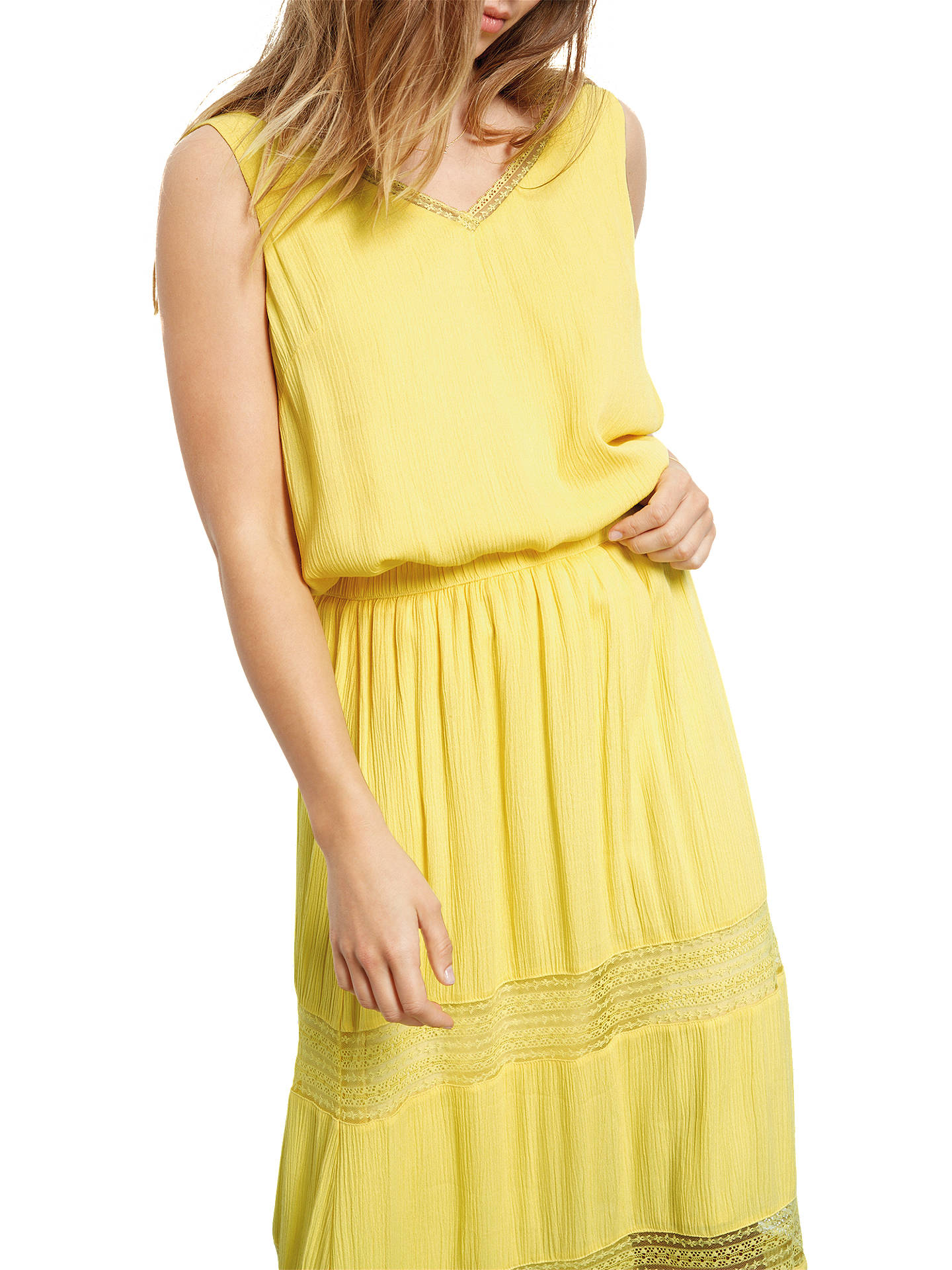 9301ee6a41 ... Buy hush Lace Insert Maxi Skirt, Goldfinch, 6 Online at johnlewis.com