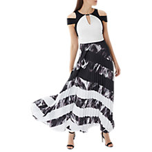 Buy Coast Amery Pleated Maxi Dress, Black/White Online at johnlewis.com