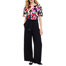 Buy Phase Eight Trixie Topstitch Peg Trousers, Navy Online at johnlewis.com